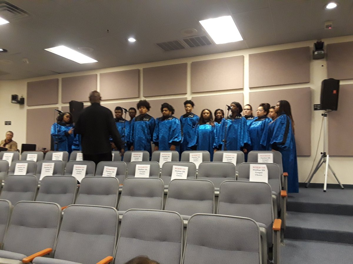 Big shout out to the Gospel Choir from Dunbar HS here tonight helping us observe Black History month!