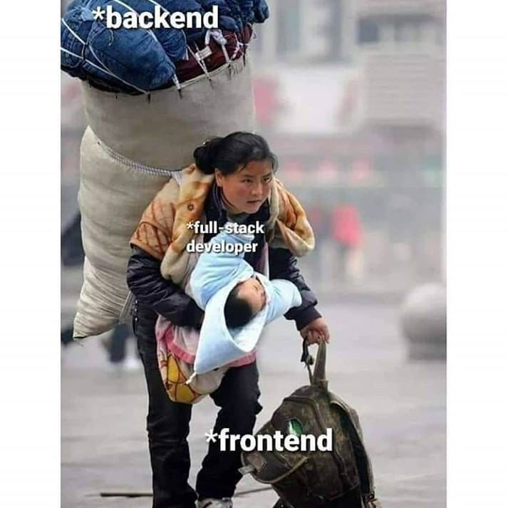 Prefect example of full stack developer   #codinglover #androiddevelopers #androiddeveloping #iosdevelopers #codingdays #codingjokes#codinggirl #androiddeveloper #androiddevelopment #backenddeveloper #programmingisfun #codingbootcamp  #programmerslife #developerlife#apppic.twitter.com/fiSYftlXWh