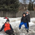 Image for the Tweet beginning: Kindergartners climbed snow mountains at