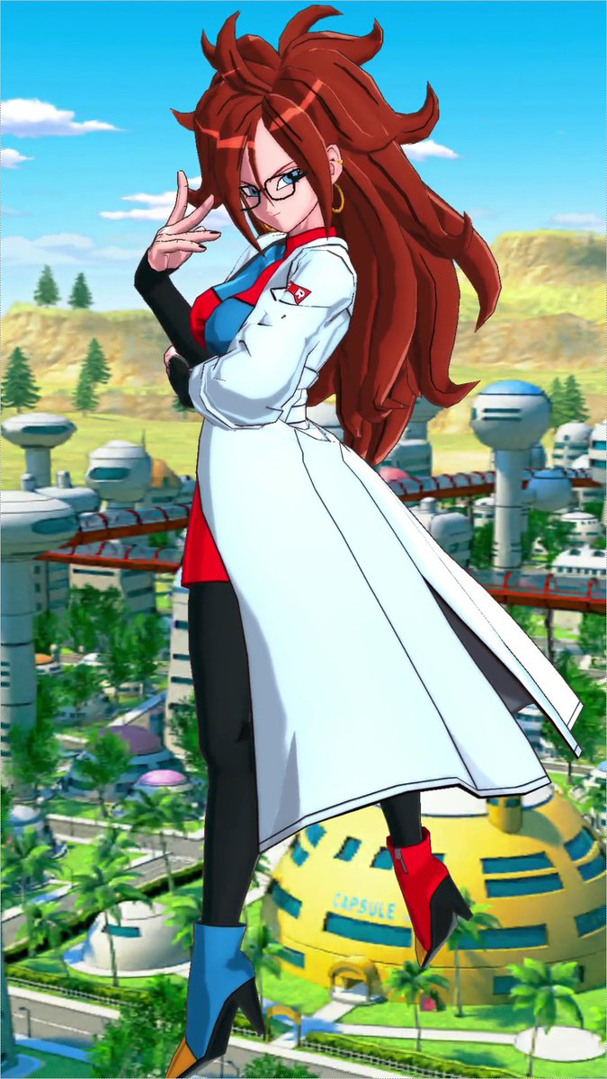 """[Android #21 Is Crossing Over from DRAGON BALL FighterZ!]#21 gives Tag-based buffs to herself & allies for """"Android"""", """"Female Warrior"""" and more!She also debuffs the enemy with """"Increased Damage Taken"""" whenever she uses an Arts Card!Get #21 via her Event!#DBLegends #Dragonball"""