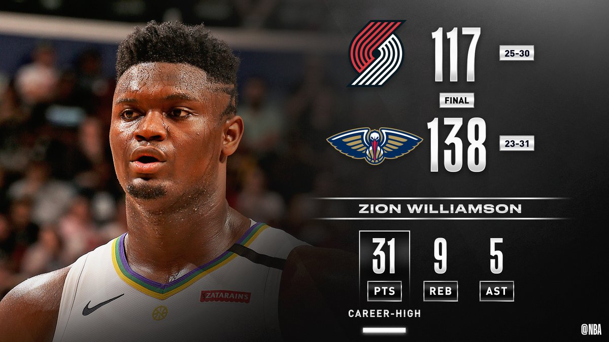 @NBA's photo on Zion