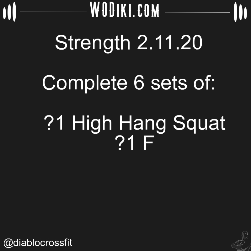 WOD 02.11 by @diablocrossfit  Thinking should become your capital asset, no matter whatever ups and downs you come across in yo... #crossfitaddict #clean, #hangclean