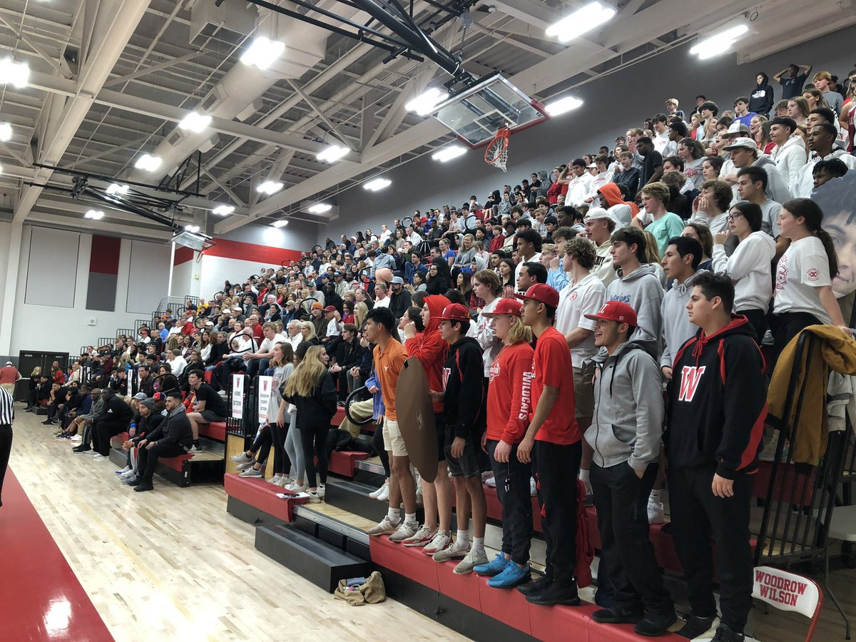 Woodrow Wildcats played a tough game tonight against HP. Fantastic crowd.