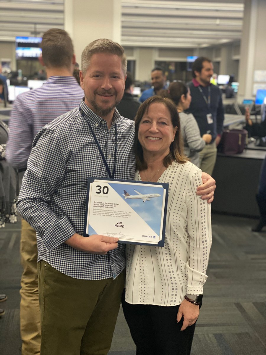 Proud to recognize and celebrate a special leaders 30th anniversary. Thanks for choosing UA to share your talents. @weareunited @bcstoller_ual