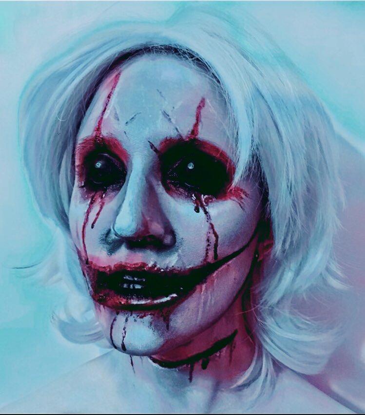 Make up on myself inspired by #ZackDunn #horrormakeup #SFXpic.twitter.com/KC4vFu7Lyu