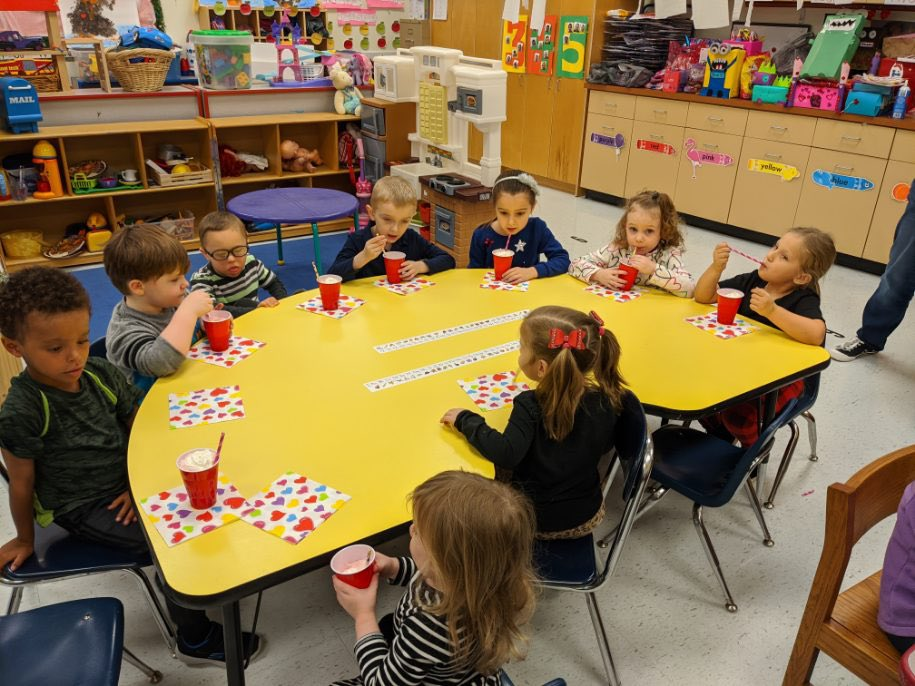 Ms. Annette and Ms. Suzy's class enjoyed friendship floats today to celebrate kindness week