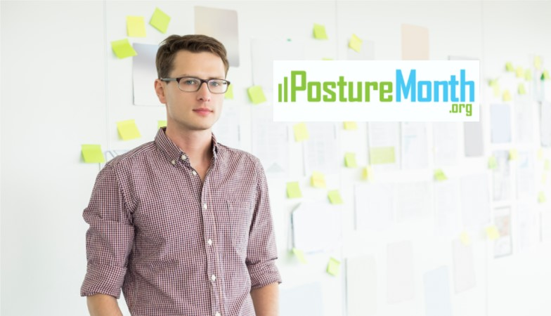 Tip 1 Posture Check - See a practitioner or use a free posture app like @PostureZone  to check your posture |  http://PostureMonth.org    http://PostureMonth.org