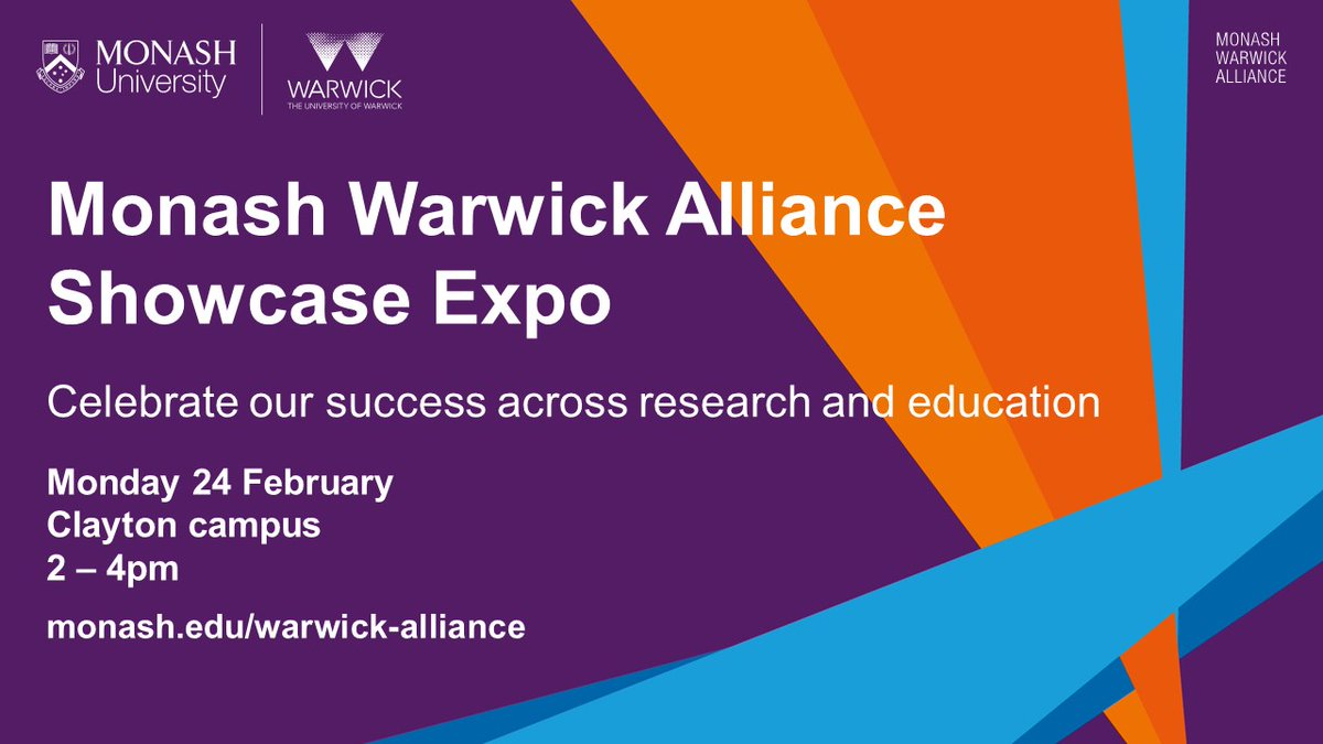 Join us at @MonashUni for our Alliance Showcase Expo on Mon 24 Feb, 2 - 4pm. Find out more & register: mona.sh/UVFp30qgYON