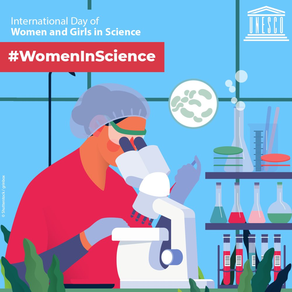 It's International Day of Women & Girls in Science! Join me in celebrating the #WomenInScience who inspire with their achievements, perseverance, & courage in the face of challenges that persist in the fields of #STEM. Learn more: bit.ly/2UIMCnX via @unwomen