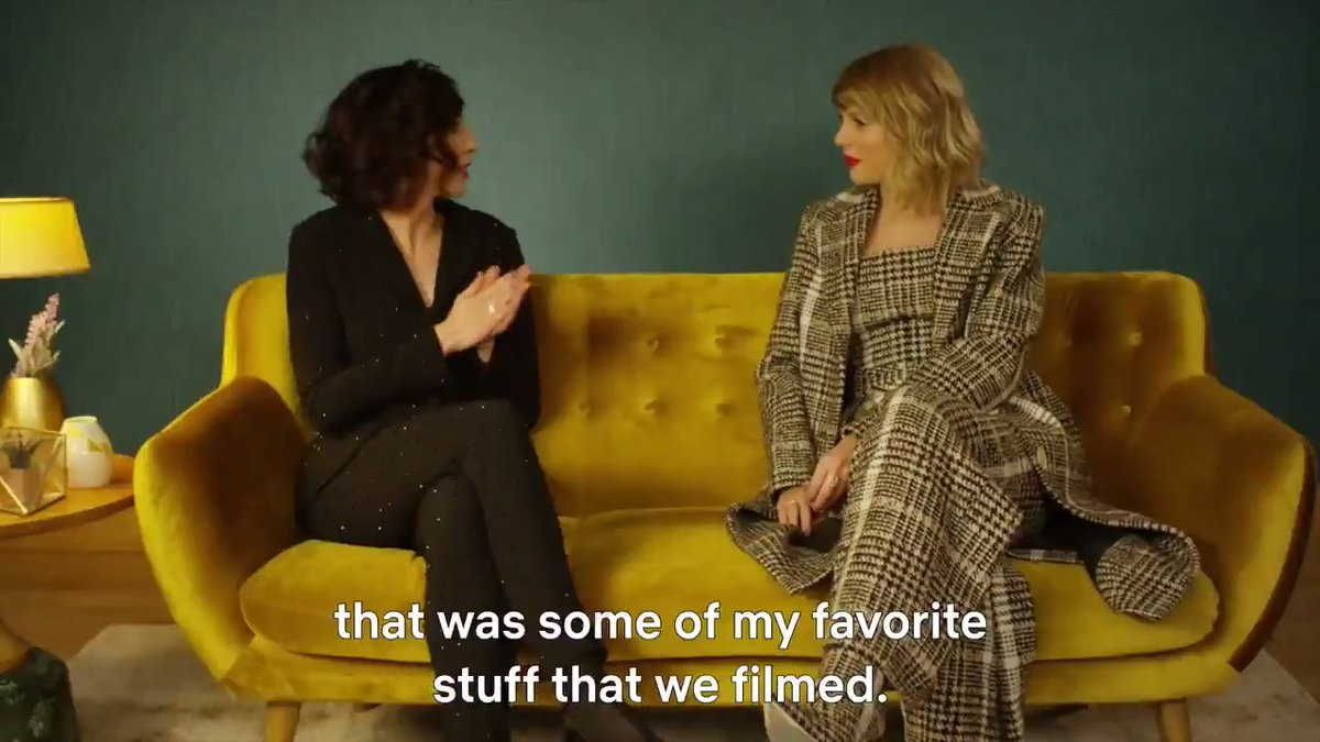 Taylor Swift and MISS AMERICANA director Lana Wilson discuss the magic of capturing her songwriting sessions on film.pic.twitter.com/FYERIN0Ip3