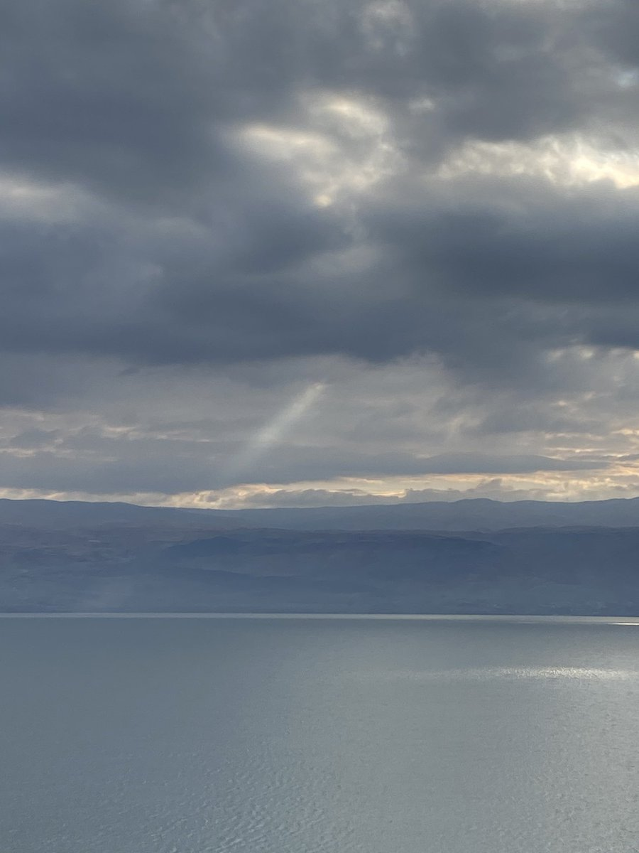 Two photos from the morning at the Dead Sea
