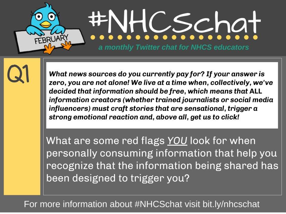 ICYMI here again is Q1 from tonight's #NHCSchat!