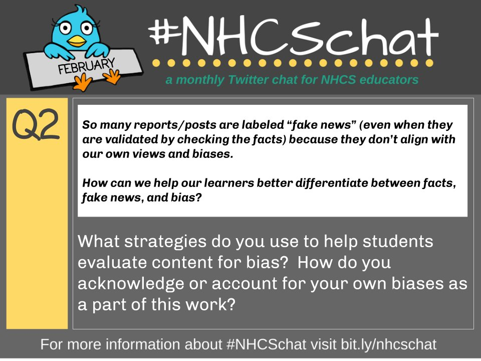 ICYMI here again is Q2 from tonight's #NHCSchat!