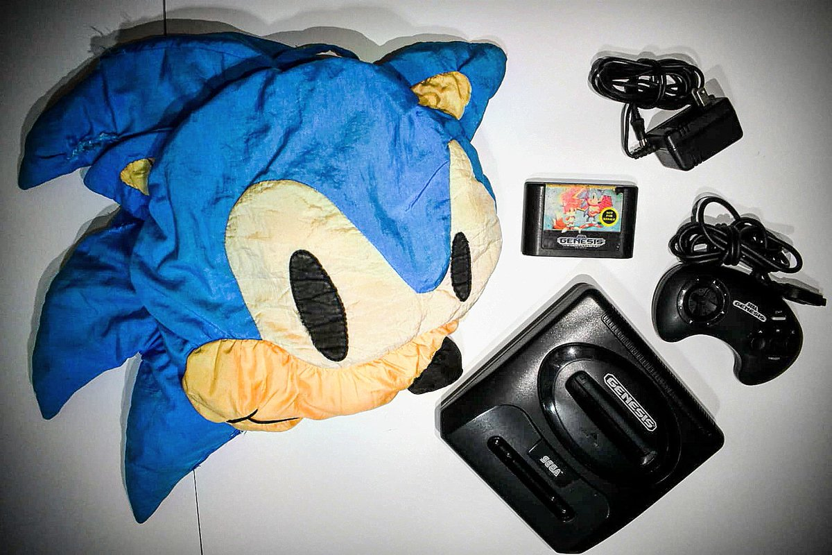 My good friend just gave me a amazing gift a #segagenesissystem to match my very old #soinc pillow. I can't wait to watch #sonicmovie this weekend. Anyone else ready for the movie  this weekend?  #sega #segagenesis #segagames #retrogames #SonictheHedgehog #Sonic2020pic.twitter.com/7k9rrzLvhy