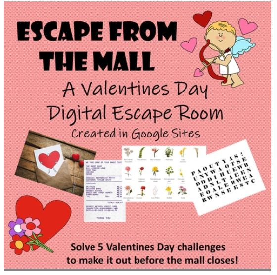 Escape from the Mall Valentines Day Escape Room. ampeduplearning.com/escape-from-th…