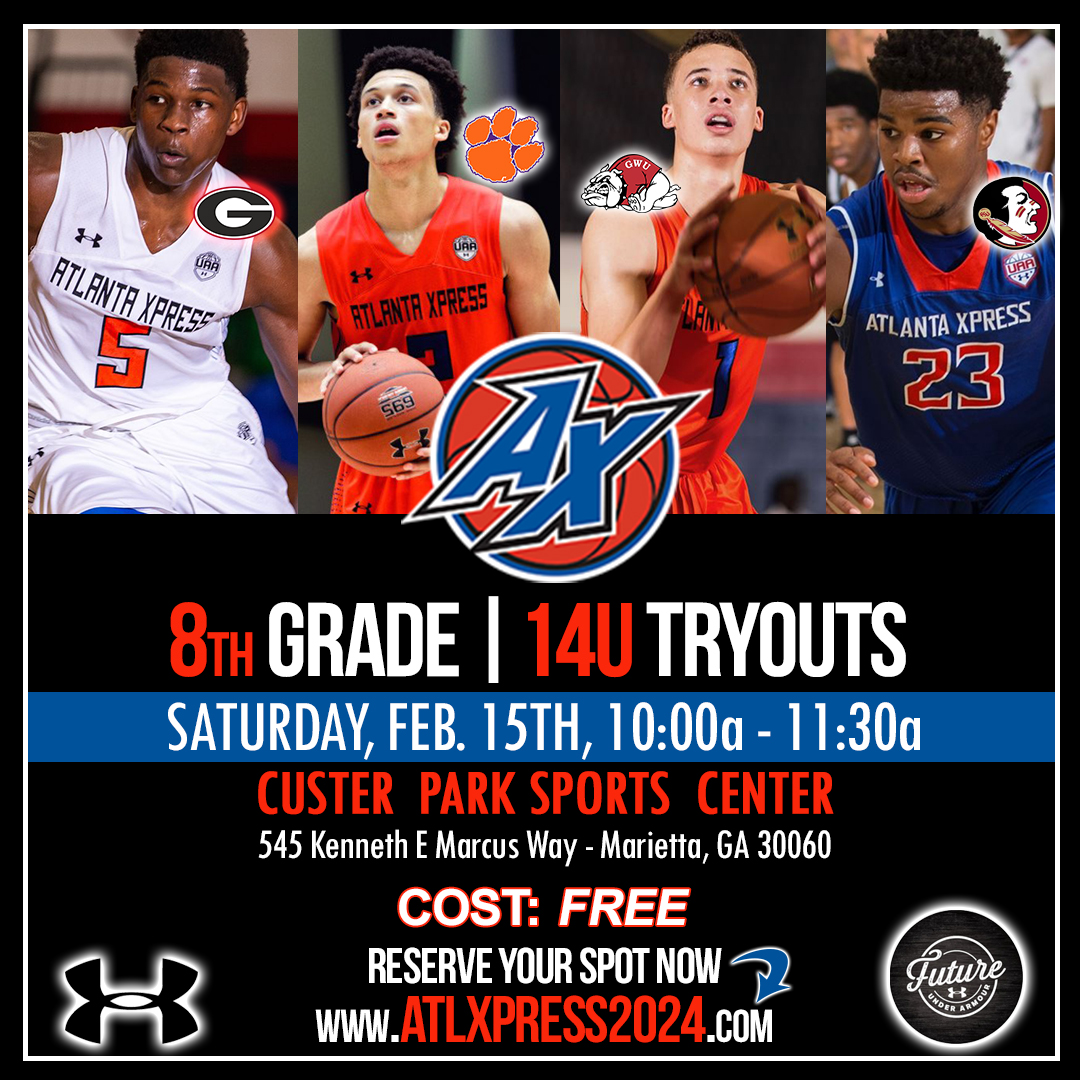 ⏰ Saturday, Feb 15th @ 10am - 11:30am 🏠 Custer Park Sports Center in Marietta, GA Reserve your spot at >> https://t.co/esxp18RDSH #atlantaxpress #basketball #uafuture #underarmour https://t.co/0XitOk6axh