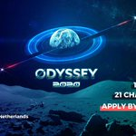 Image for the Tweet beginning: Apply for #Odyssey2020!   -