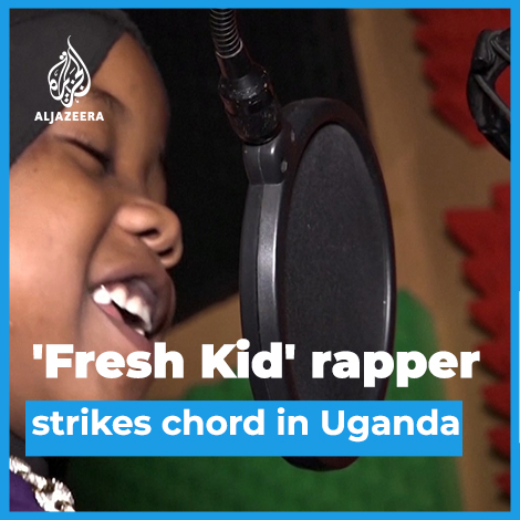 This 8-year-old rapper in Uganda is raising awareness about poverty.