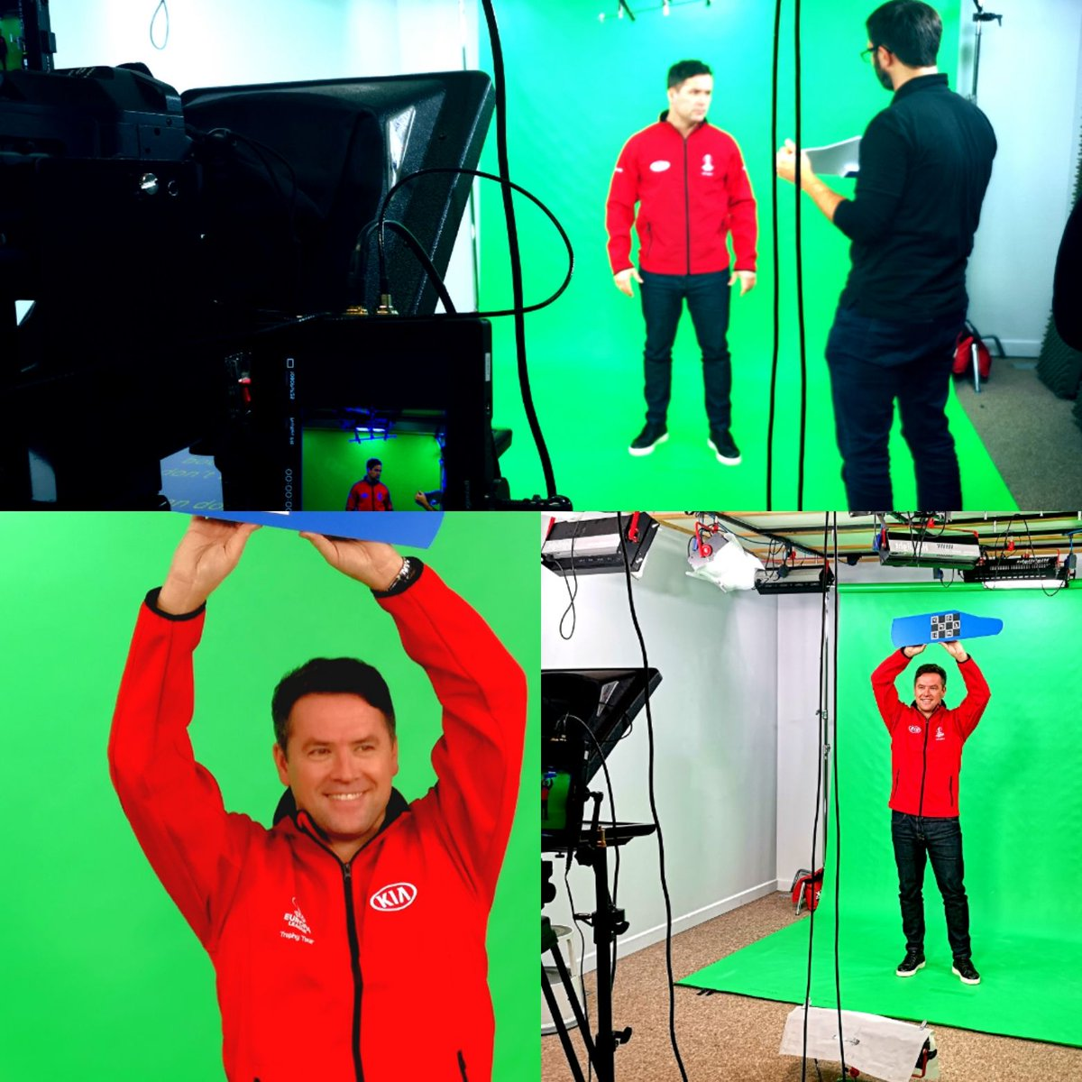Some BTS shots of Michael Owen in the Soundproof Studio here at Galleon Studios. Catch The UEFA Europa League Trophy Tour at venues throughout Europe including Manchester in May. #PassThemOn campaign #ar #augmentedrealityfilming #bts #michaelowen #kiamotors