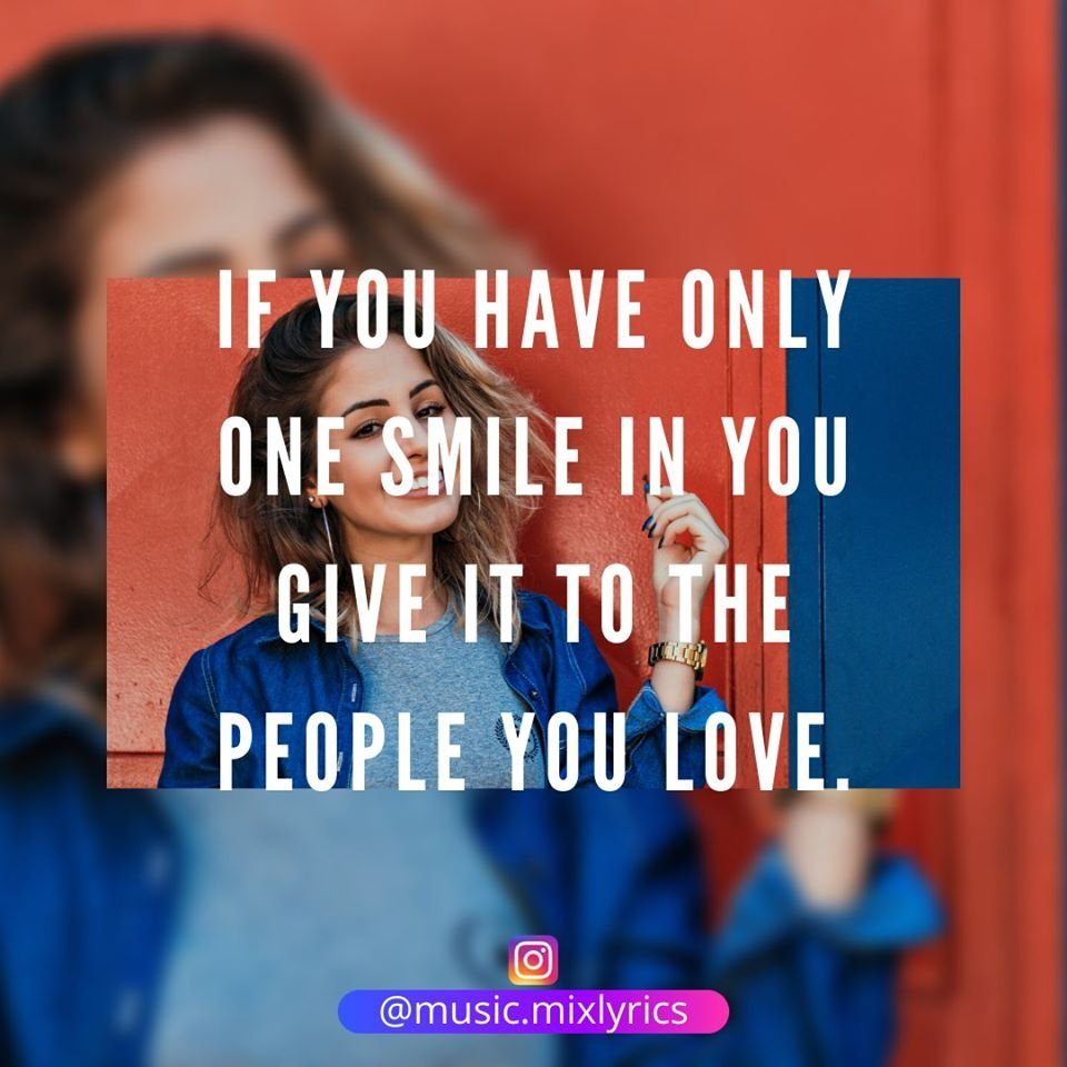 If you have only one smile in you give it to the people you love. #GalaxyS20Ultra  #amazingquotes #motivationalpic #motivational_quotes #motivationalposts #motivationoftheday #motivationwall #motivationalpage #motivationforlife #motivationquotes #motivationalquoteofthedaypic.twitter.com/933wbpwUDL