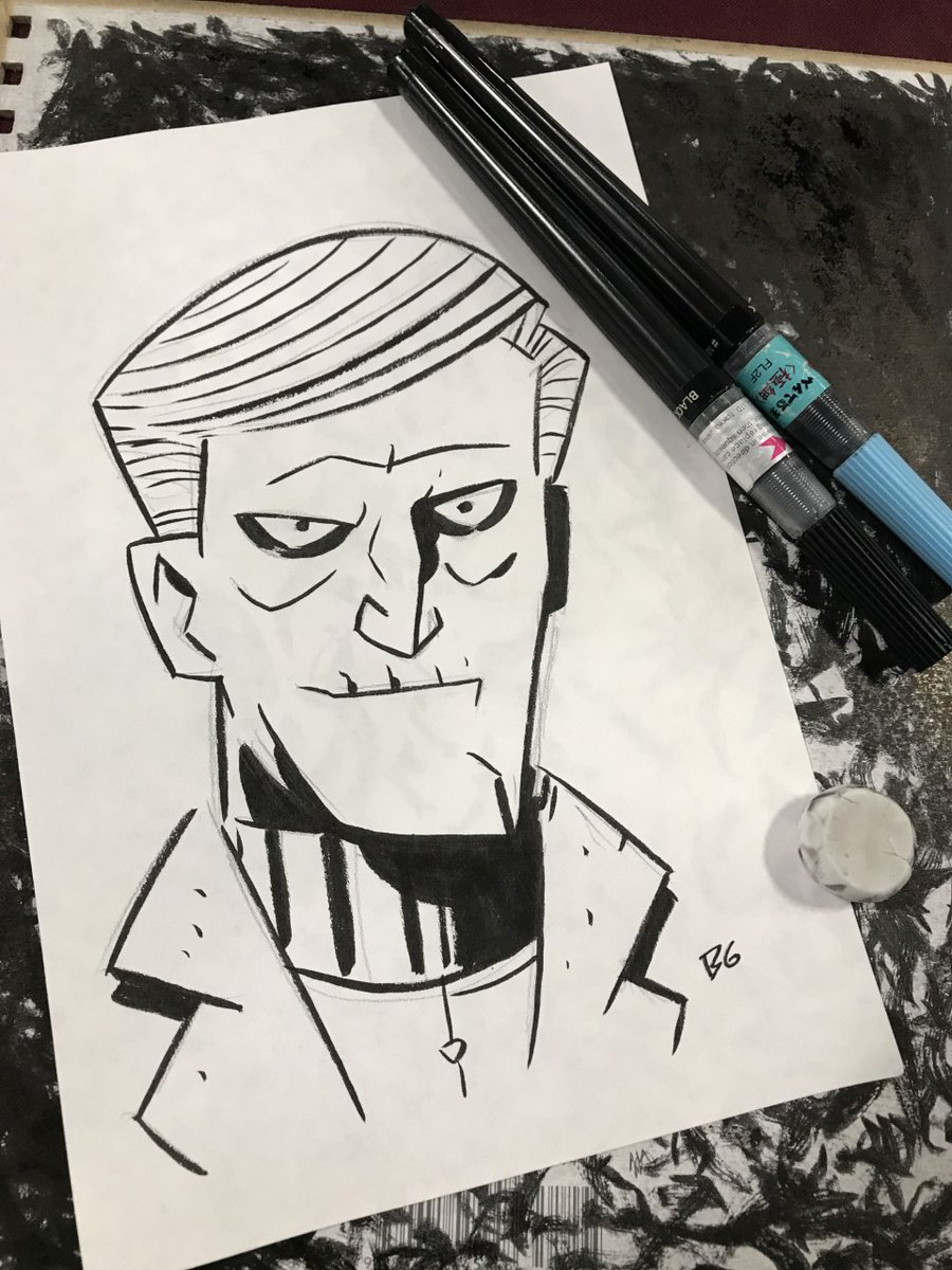 A con sketch of #horror movie host Count Karloff from my #comic book series Midnight Mystery. #makecomicspic.twitter.com/H8fiwGQ0eT