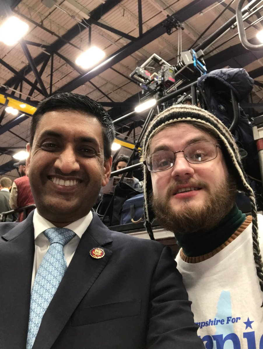 It was great to meet @RoKhanna at the Bernie victory party tonight! #NHprimary2020 #FITN