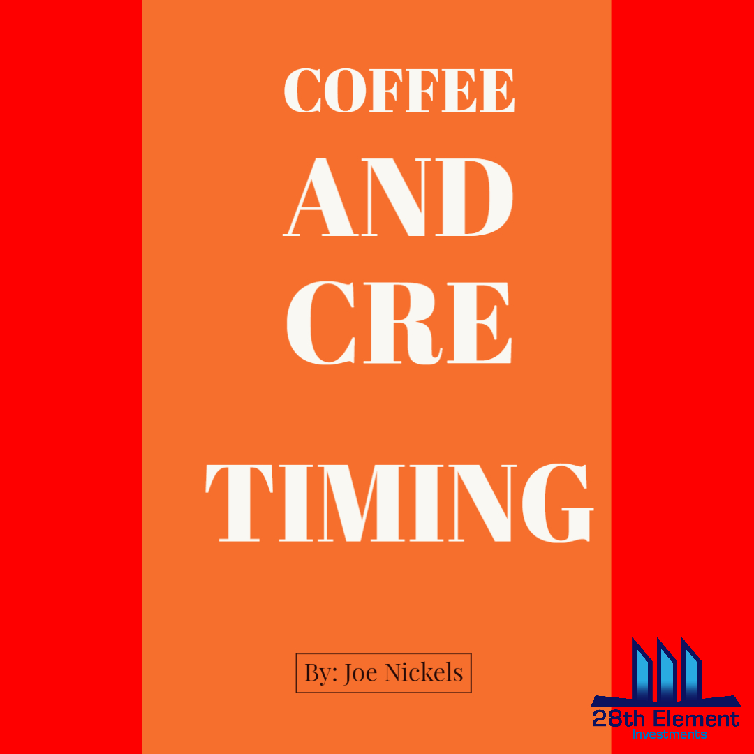 Editorial: Coffee & CRE: Timing Link in Profile  #28ei #28thelementinvestments #CRE #RetailInvesting #ApartmentInvesting #PropertyManagement #PassiveIncome #Retirement #RealEstateInvesting #Cashflow #RealEstateInvestor #FinancialFreedom #motivation #mindset #success #leadershippic.twitter.com/5H2UOdT6sg