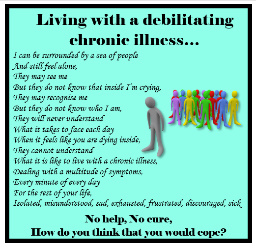 This is living with chronic illnesses. They are debilitating but #invisibleillness which is why sharing and #raisingawareness is so important! #ChronicIllnessIsLike #chronicpain #chronicfatigue #fibromyalgia #spoonie