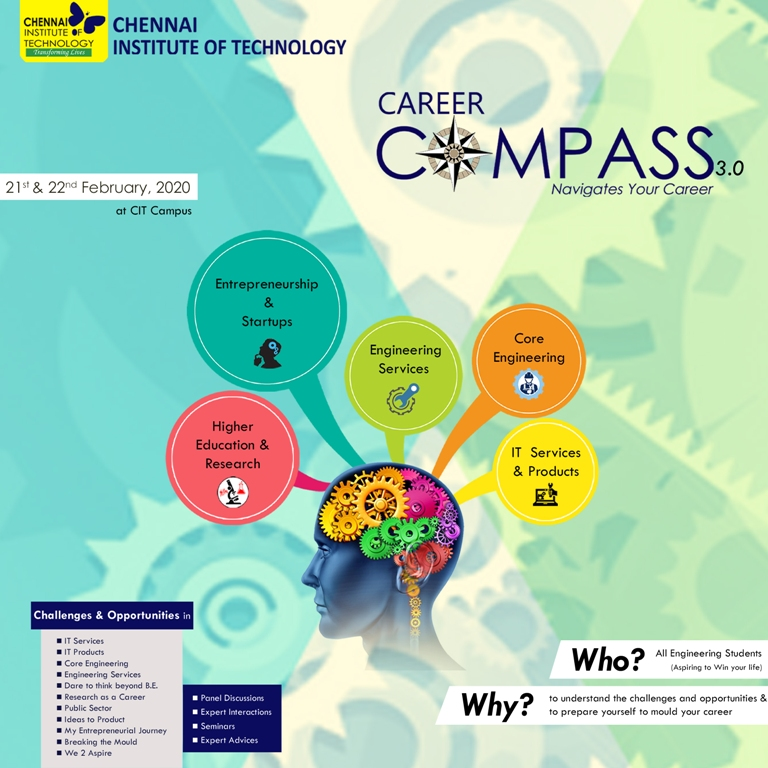 Career Compass 3.0 - a new edition with dynamic speakers and eminent personalities awaiting to transform your career dreams into reality. Freeze your dates on 21st and 22nd February, 2020.   #CareerCompass #IndustryConnectedInstitute #ChennaiInstituteofTechnology #CITChennaipic.twitter.com/vgbD62mamw
