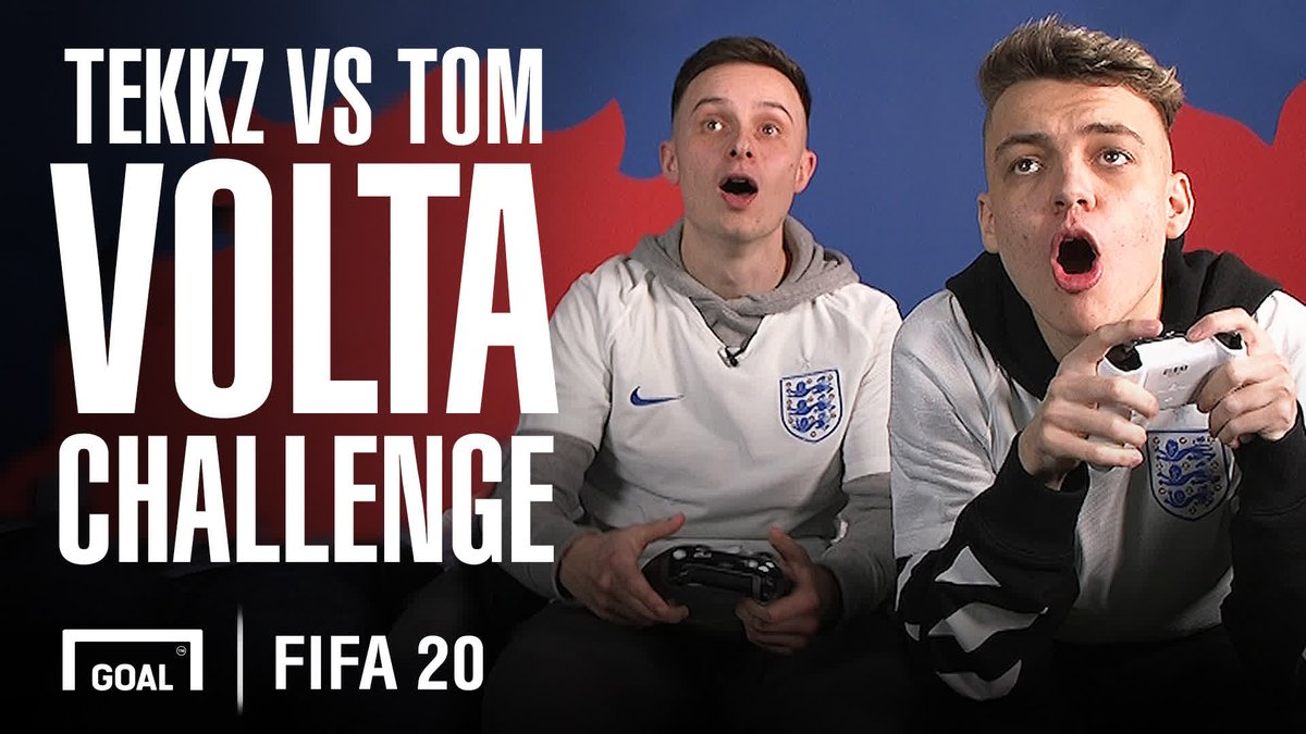It's @Tekkz vs @HashtagTom_ in the #FIFA20 #Elions Volta challenge 🎮   The FIFA pros face-off and discuss life as a pro and playing @EASPORTSFIFA against Premier League stars 😍