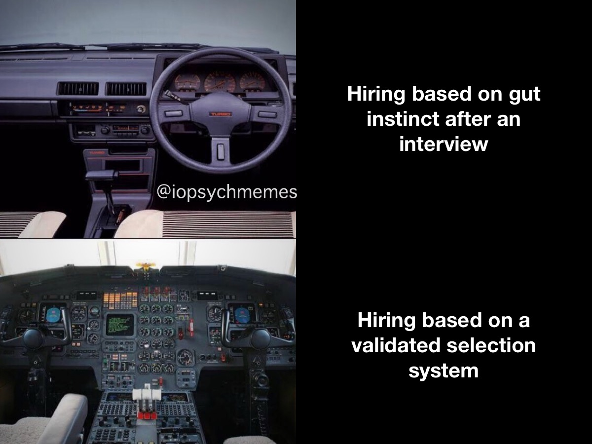 You want to to hire high flyers? Get an I-O psychologist to set your organization up with a kick-butt validated selection system. #hiring #talentmanagement #iopsych #iopsychmemes #psychology #psychologymemes #psychmemes #APpsychpic.twitter.com/BtczqBdcVJ