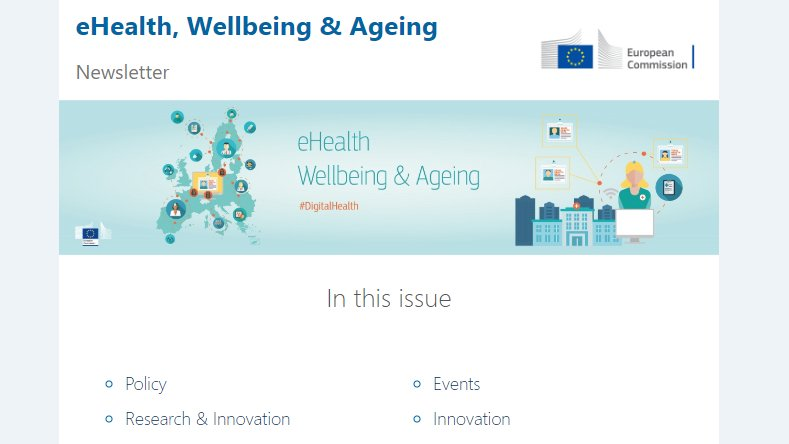 Fresh out of the press: the latest #ehealth newsletter. Check it out here➡️https://t.co/kOLtsQwLHI  Subscribe to our newsletter👇 https://t.co/uJqE1VXd07 https://t.co/Hmkx8OTxbp