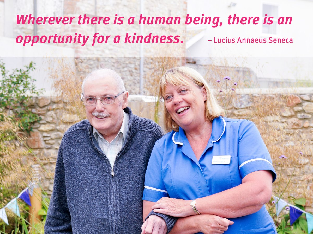 """It's #WorldKindnessDay and we thought it was the perfect time to share this quote from #Seneca:   """"Wherever there is a human being, there is an opportunity for kindness.""""  And here at Hospiscare, we couldn't agree more   @Devon_Hour @OfHospiscare @OfTopsham @Exeter_Hour<br>http://pic.twitter.com/kIKBigS6DR"""