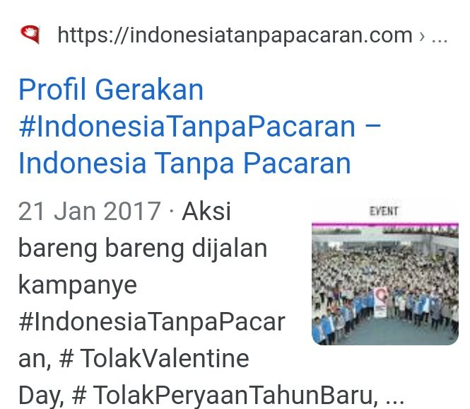 Maybe not you, but there's #TolakValentine campaign on #IndonesiaTanpaPacaran  official website.pic.twitter.com/tmwqIpcBRV