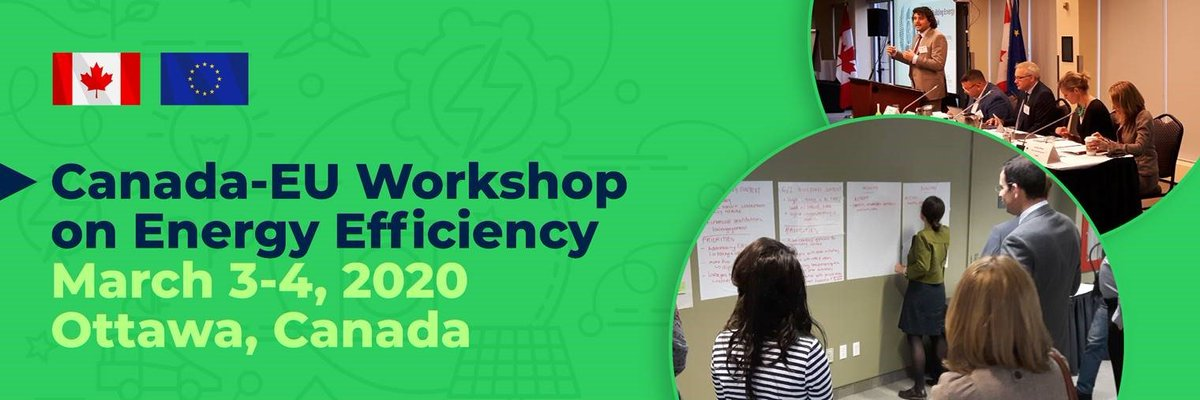 On 3-4 March experts from Canada🇨🇦, the EC 🇪🇺 and its member states will get together in a workshop on #energyefficiency to share experience and discuss topics such as future-proofing #buildings, preparing the workforce, #smartcities and buildings. https://europa.eu/!mV96qu