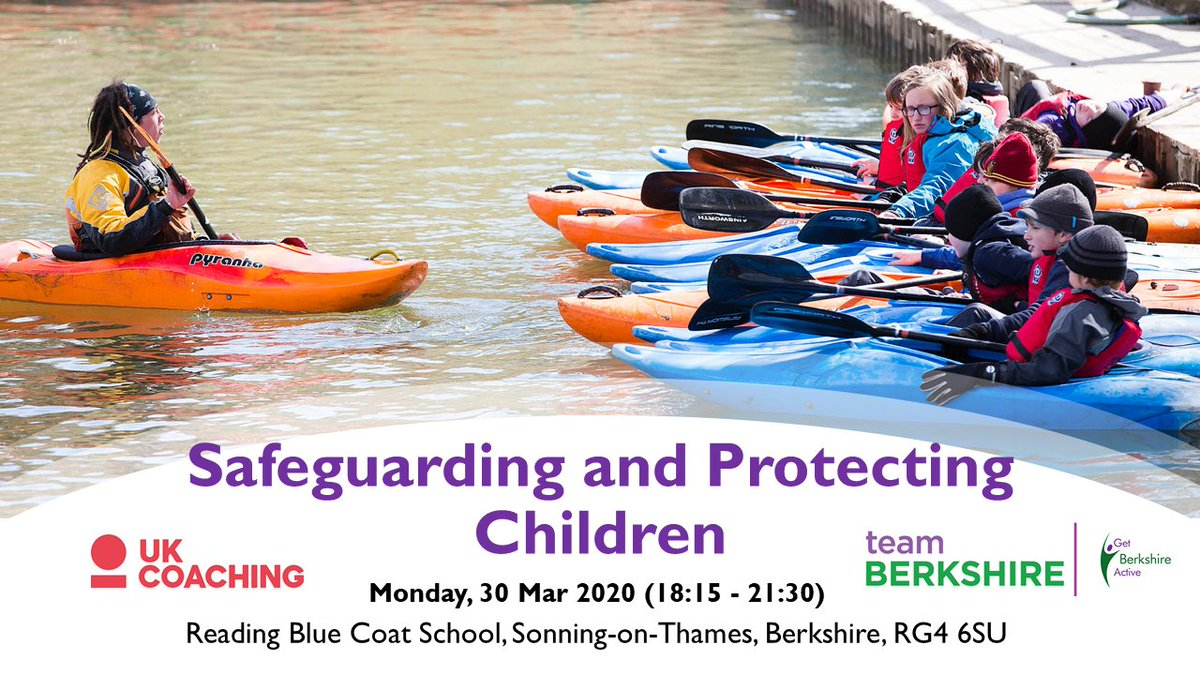 RT @GetBerksActive: This Safeguarding and Protecting Children Course (20th March, Reading, @_UKCoaching) will raise your awareness of the telltale signs of abuse and poor practice, and help you deal with any issues sensitively and effectively. Book your place here https://t.co/USAFZRuHKK