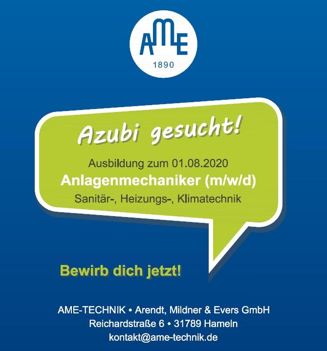 AME-Technik in Hameln sucht einen Anlagenmechaniker (m/w/d) - http://bit.ly/3buJB0s #neuewoche #hameln #Aerzen, Bad Münder / Springe, Bad Pyrmont / Lügde, Emmerthal / Bodenwerder, Hessisch Oldendorf, Ith-Region, Landkreis, Lokales, Nachrichten Hameln, Rinteln, Startseitepic.twitter.com/xEaph0vIQr