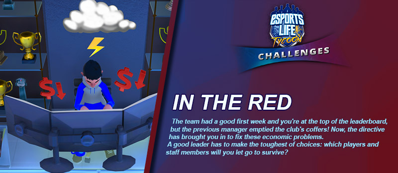 Imagine you're in charge of an #esports team whose previous manager emptied the club's coffers   Which players and staff members will you let go to survive?   Try the new Challenges mode on #EsportsLifeTycoon and prove you are a good leader!  https://store.steampowered.com/app/897410/Esports_Life_Tycoon/ …pic.twitter.com/gq6BkTmuVc