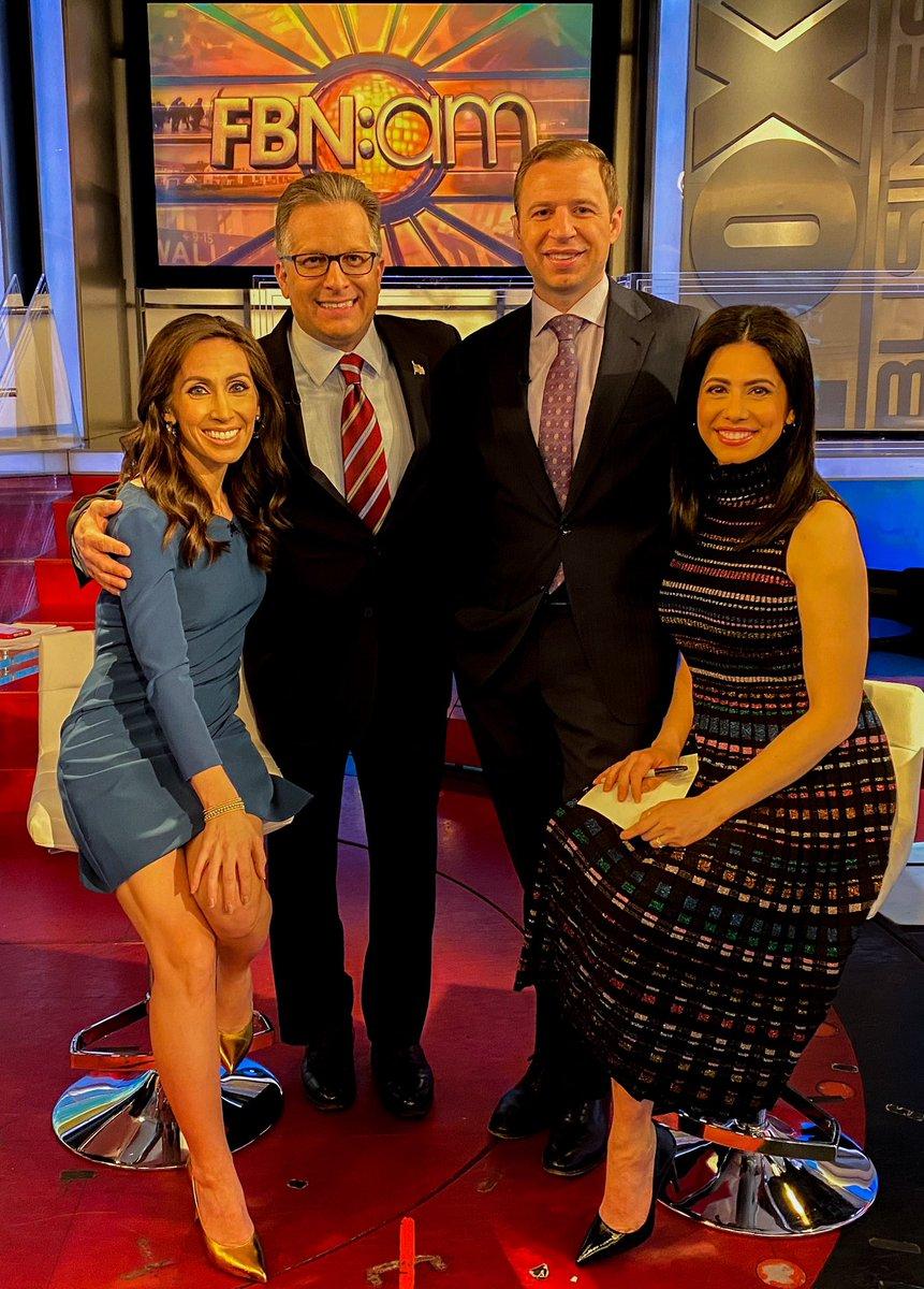 Always a pleasure to appear on #FoxBusiness @FoxBusinessAM w @SimonettiLauren @CarrascoTV @FlynnZito 👊🏼💯