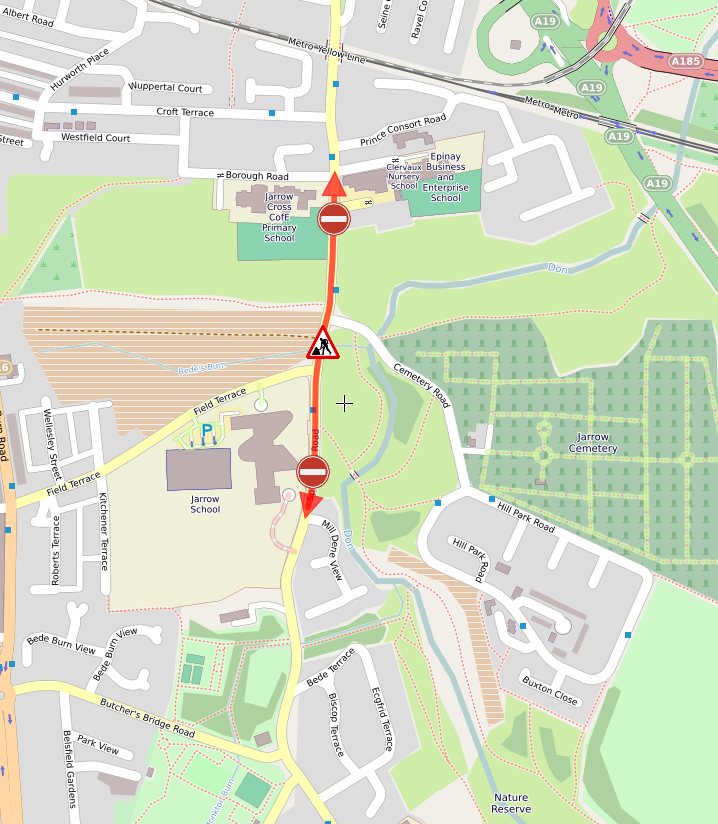 ⛔ ROAD CLOSURE:  Springwell Rd in #Jarrow will be closed between its junctions of Clervaux Terrace and Mill Dene View for resurfacing works.  15/02/2020 & 16/02/2020  8am - 5pm.  #SouthTyneside