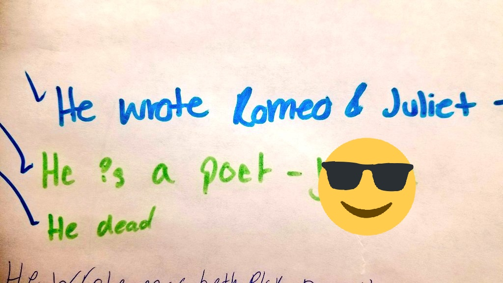 Prior knowledge on #Shakespeare pretty on point, I'd say