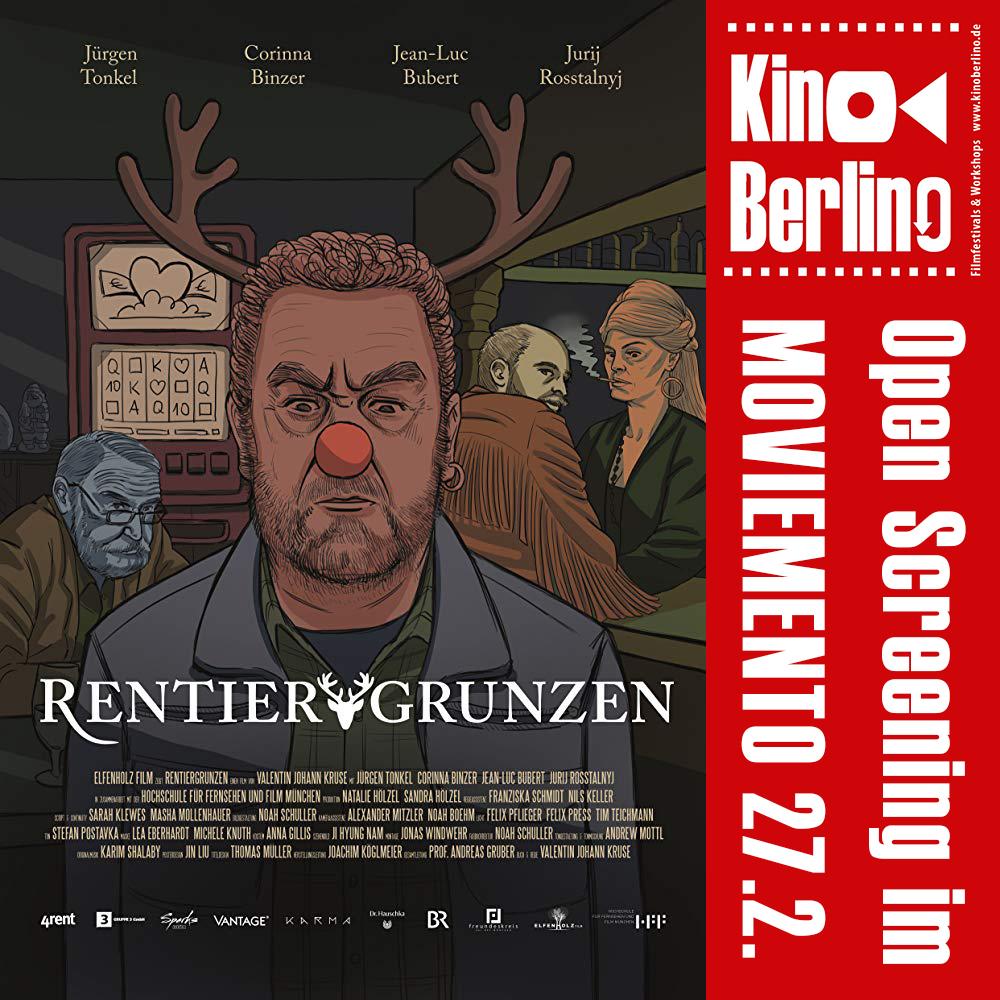RENTIERGRUNZEN von Valentin Johann Kruse läuft am 27. Februar beim OPEN SCREENING im Kino Moviemento.  #kinoberlino #HFFmuc #BR #elfenholz #valentinkruse #regie #film #moviementohero #komödie #weihnachten #cinema #berlin #kreuzberg #openscreening #kurzfilmnacht #rentiergrunzenpic.twitter.com/YsndXYLiyK