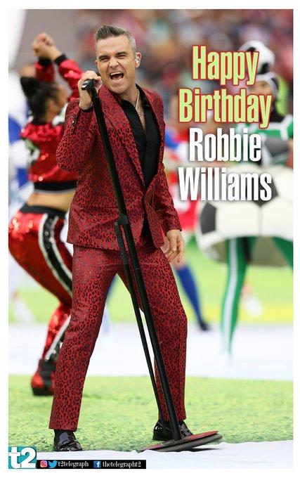 Happy birthday to Mr \Rock DJ\, Robbie Williams