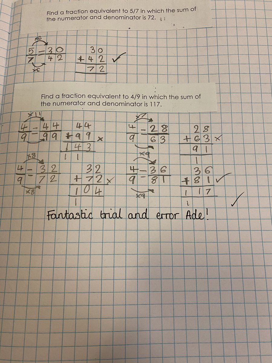 test Twitter Media - Fantastic trial and error work from Ade and Isla to solve this maths problem! 🌟 #gorseymaths https://t.co/xmvMyaoNNr