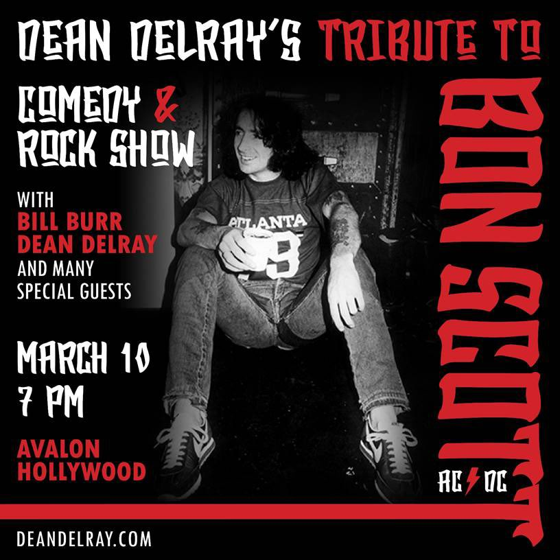 Still some tickets left for the Bon Scott Tribute March 10th. 1 night on here in Hollywood at the @AvalonHollywood @billburr @Scott_Ian @SGSFOX @MikeInez @RockNRollRelics @SoloDallasCom #acdc #bonscottpic.twitter.com/Q3QoizjgKy