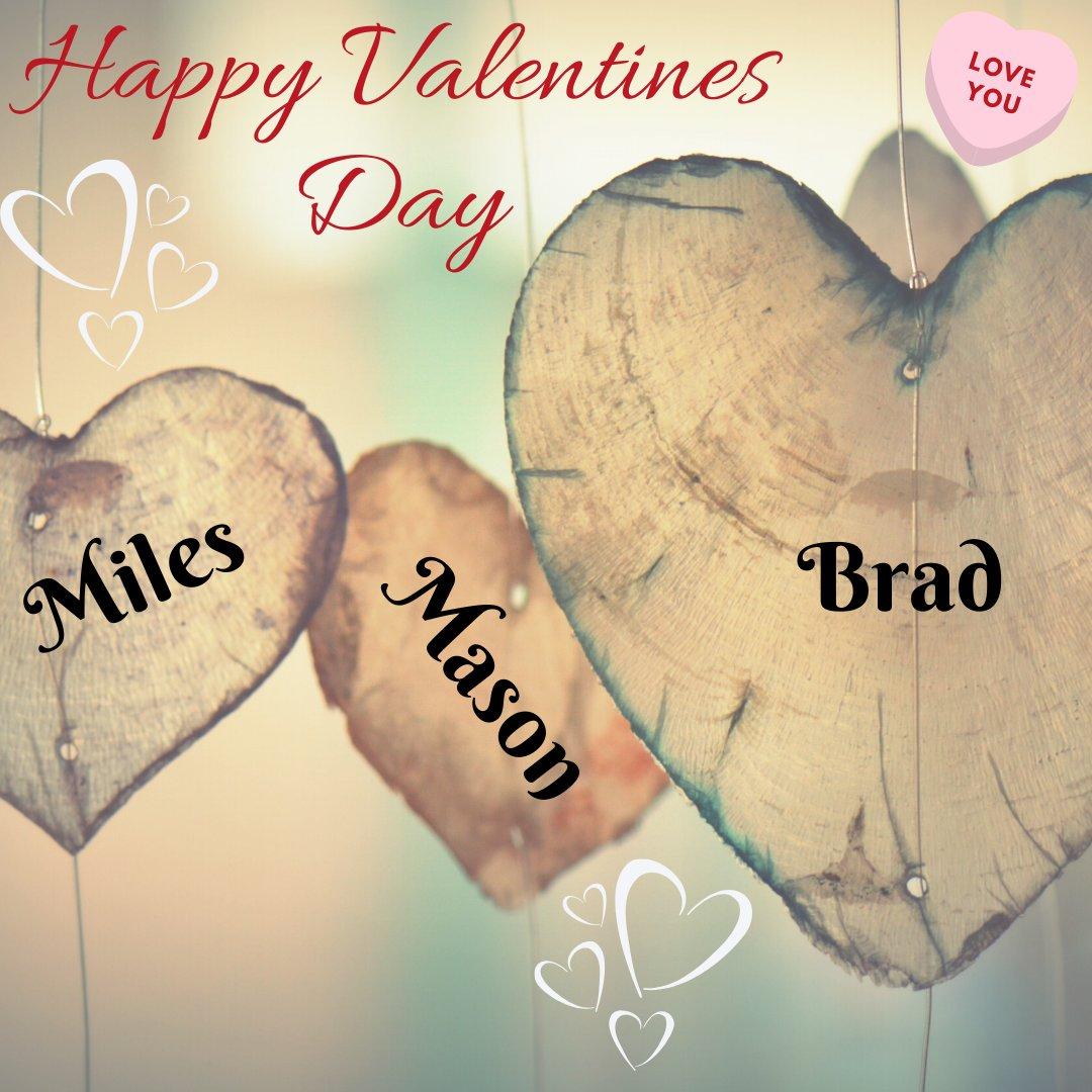 Happy Valentines Day!  I love you Brad, Mason, and Miles! My Life ~ My World!   Have a beautiful Friday  & Spectacular Weekend!  #ValentinesDay2020 #sharethelove  #sharethelovetoday  #fridayvibes  #fridayiminlove  #motivationfriday  #fridaysbelike pic.twitter.com/SyjvGttNUZ