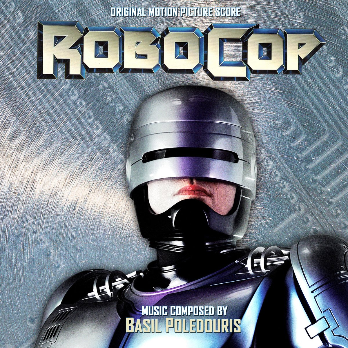 Album cover for the RoboCop (1987) original motion picture score by Basil Poledouris. #80s #SciFi #moviespic.twitter.com/cwXUzOHCzE