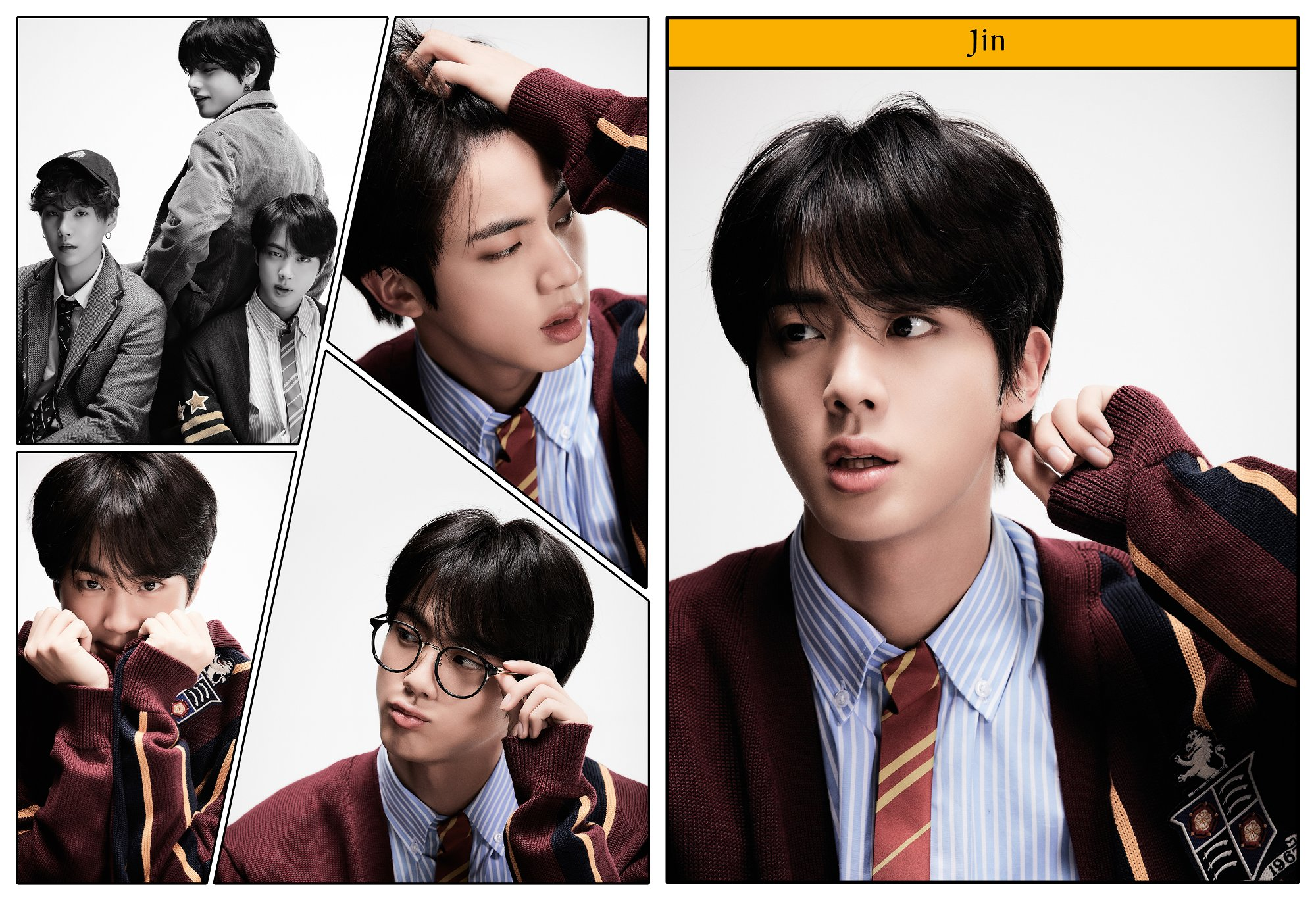 Jin BTS Rilis Konsep Foto Keempat untuk Album Map of The Soul: 7 - Definition of Happiness and Youth © Big Hit Entertainment