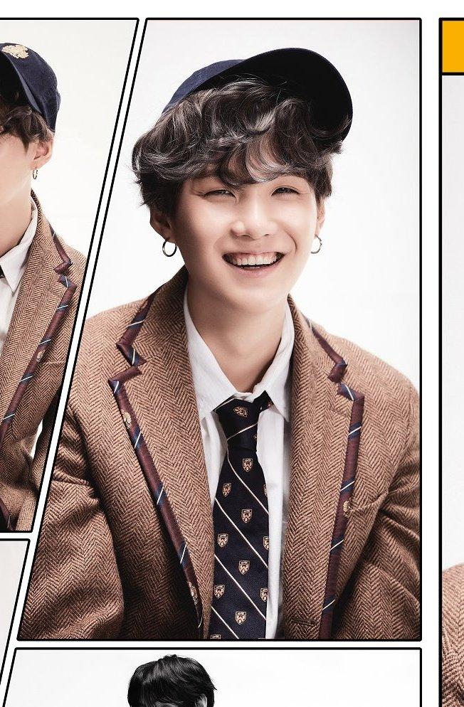 La sonrisa de Yoongi le hace ver tan hermoso😭❤️ me muerooo  #BTS #방탄소년단 #MAP_OF_THE_SOUL_7 #concept4