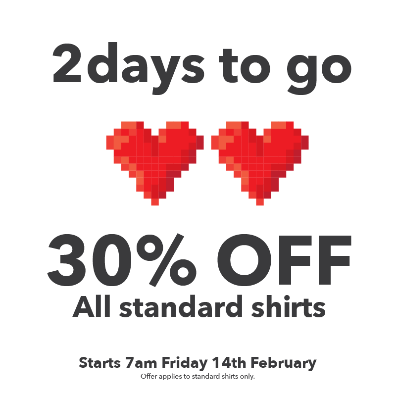 1 DAY SALE - 30% OFF  FRIDAY 14TH FEB '20 Offer applies to all standard shirts Live I.T Love I.T Wear I.T https://buff.ly/3bqihk2  #Wednesday #Sales #techlovers #shirtlovers #shirtstyle #GQStyle #britishdesignershirts #designershirts #digitalpic.twitter.com/nKt6ayBYx7